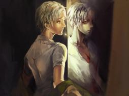 аниме, magi the labyrinth of magic, рана, отражение, рубашка, парень