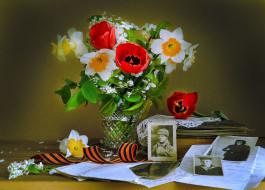 праздничные, день победы, цветы