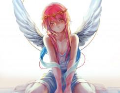 аниме, magi the labyrinth of magic, magi, the, labyrinth, of, magic, арт, cla, сидя, крылья, парень, ren, kouha