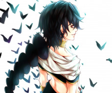 аниме, magi the labyrinth of magic, парень, арт, norellen, judal, magi, the, labyrinth, of, magic, усмешка, птицы