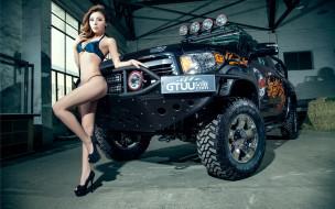 обои для рабочего стола 1920x1200 автомобили, авто с девушками, автомобиль, девушка, купальник, азиатка