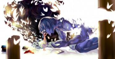 аниме, magi the labyrinth of magic, книги, птицы, парень, ugo, aladdin, rifsom, арт, magi, the, labyrinth, of, magic