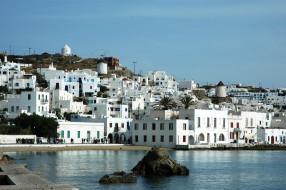 mykonos,  greece, города, - улицы,  площади,  набережные, дома, greece, море, набережная, побережье