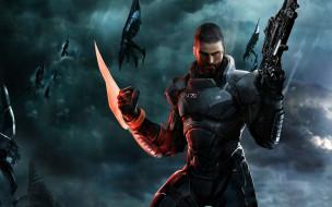 видео игры, mass effect 3, воин, оружие