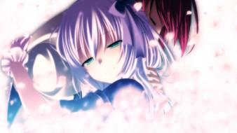 gensou no idea, аниме, *unknown , другое, арт, пара, лепестки, парень, объятия, makita, maki, девушка, kenzaki, noel, gensou, no, idea
