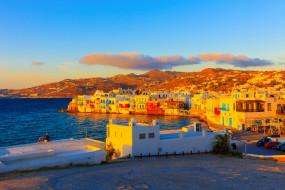 mykonos,  greece, города, - улицы,  площади,  набережные, море, дома, греция, набережная