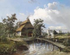 обои для рабочего стола 4359x3469 рисованные, живопись, schmiede, am, bach, 1881, carl, georg, kоster
