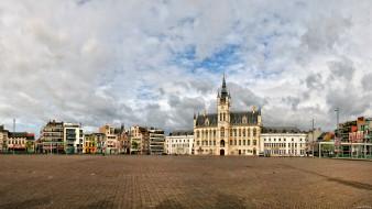 Синт-Никлаас Бельгия обои для рабочего стола 2400x1350 синт-никлаас бельгия, города, - улицы,  площади,  набережные, площадь, синт-никлаас, дома, бельгия