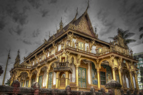 phnom penh,  cambodia, города, - столицы государств, храм, религия