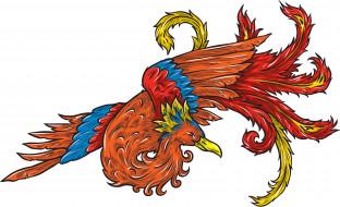 рисованные, животные, птица