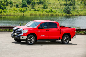 2014 Toyota Tundra SR5 обои для рабочего стола 3000x2000 2014 toyota tundra sr5, автомобили, toyota, красный, tundra