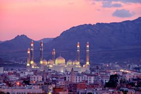 сана , йемен, города, - столицы государств, мечеть, панорама