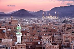 сана , йемен, города, - столицы государств, панорама, мечеть