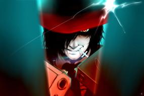аниме, hellsing, alucard, vampire, пистолет, дракула, вампир