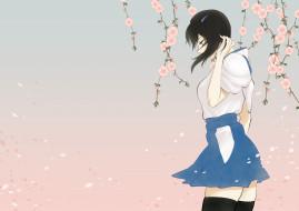 обои для рабочего стола 2000x1416 аниме, kantai collection, арт, shoukaki, earthean, девушка, цветы, сакура, лепестки