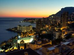 Monte Carlo, Monaco обои для рабочего стола 2048x1536 monte carlo,  monaco, города, монте-карло , монако, monte, carlo, monaco, ligurian, sea, здания, панорама, ночной, город, побережье, лигурийское, море, монте-карло