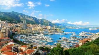 la condamine,  monaco, города, - панорамы, порт, гавань, бухта, лигурийское, море, монако, ла-кондамин, ligurian, sea, monaco, la, condamine, катера, яхты, горы, побережье, здания, панорама
