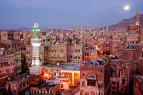 сана , йемен, города, - столицы государств, панорама