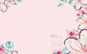 календари, рисованные,  векторная графика, цветы