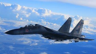 авиация, боевые самолёты, облака, небо, самолет, полет, истребитель