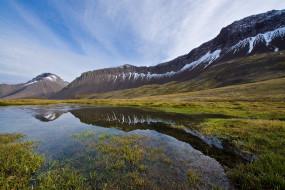 обои для рабочего стола 2048x1367 природа, реки, озера, отражение, облака, небо, озеро, трава, долина, горы