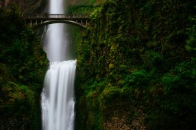 природа, водопады, водопад, поток, мост, зелень, горы