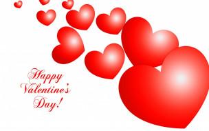 праздничные, день святого валентина,  сердечки,  любовь, красный, белый