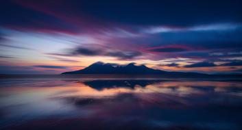 природа, восходы, закаты, эгг, шотландия, остров, облака, горы, вечер, пляж, атлантический, океан