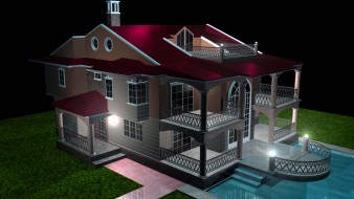 3д графика, архитектура , architecture, бассейн, дом
