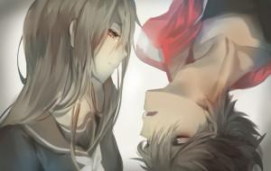 аниме, *unknown , другое, школьная, форма, слеза, девушка, парень