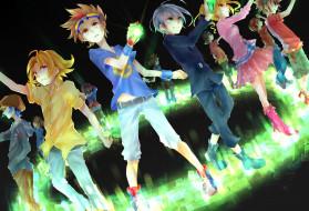 аниме, digimon, магия, очки, девушки, парни