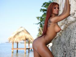 �������, ��������,  �������, ashley, bulgari, model, nude, beauty, girl, body, beach, tropical