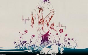 by geminis, аниме, red garden, цепь, девушка, бабочка, розы, ошейник, цветы, kate, ashley