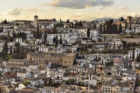 гранада, испания, города, панорамы, дома