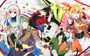 аниме, mekakucity actors, kisaragi, shintaro, momo, kido, tsubomi, kano, shuuya, amamiya, hibiya, kagerou, project