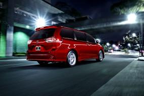 2015 Toyota Sienna обои для рабочего стола 2048x1367 2015 toyota sienna, автомобили, toyota, красный, Япония, тойота