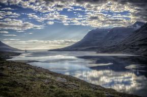 обои для рабочего стола 2048x1350 природа, реки, озера, озеро, горы, облака, небо, вода, пейзаж