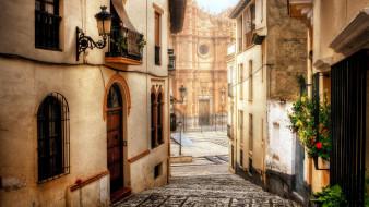 города, гранада , испания, цветы, плитка, здания, гранада, дома, балконы, двери, окна, улица