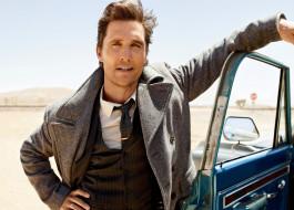 мужчина, Мэттью МакКонахи, Matthew McConaughey, машина, дорога, актер