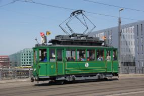 обои для рабочего стола 2048x1368 техника, трамваи, трамвай, город, рельсы