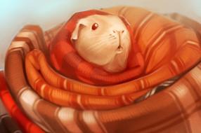 рисованное, животные, cavy, одеяло, морская, свинка