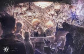 обои для рабочего стола 2064x1342 аниме, pixiv fantasia, kaidou, арт, парни, девушки, звери, существа, свет, фонари