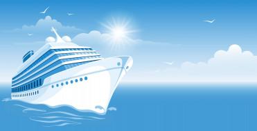 ��������� �������, �������, cloud, ship, birds, sun, sea, �����, ������, ������, �������, ����