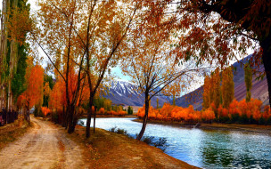 �������, ����, �����, autumn, colorful, leaves, ������, walk, trees, park, river, sky, ����, ����, ����, ���, �������, �����, forest, water, colors, fall, ����, ����, nature