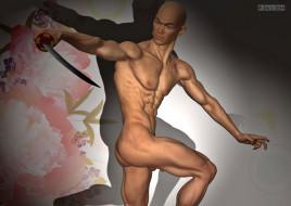 эротика, 3д-эротика, взгляд, меч, мужчина