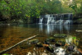 обои для рабочего стола 2048x1361 природа, водопады, водопад, река, лес