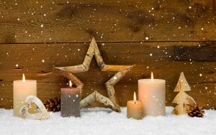 �����������, ���������� �����, winter, candles, star, cones, holiday, heart, merry, christmas, decoration, ������, ��������, ����, �, ����������, ���������, ��������������, ���������, �����, ������, ������