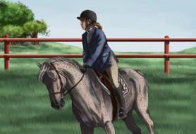 всадник, лошадь