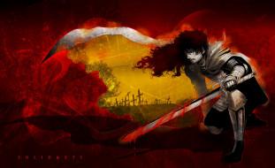 аниме, hellsing, кладбище, кровь, меч, вампир, дракула, dracula, vampire, alucard