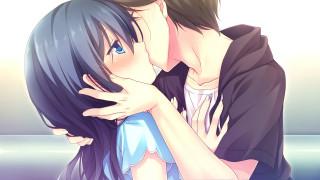 аниме, kimi no tonari de koishiteru, hoshino, nagisa, kimi, no, tonari, de, koishiteru, девушка, парень, поцелуй, пара, motomiya, mitsuki